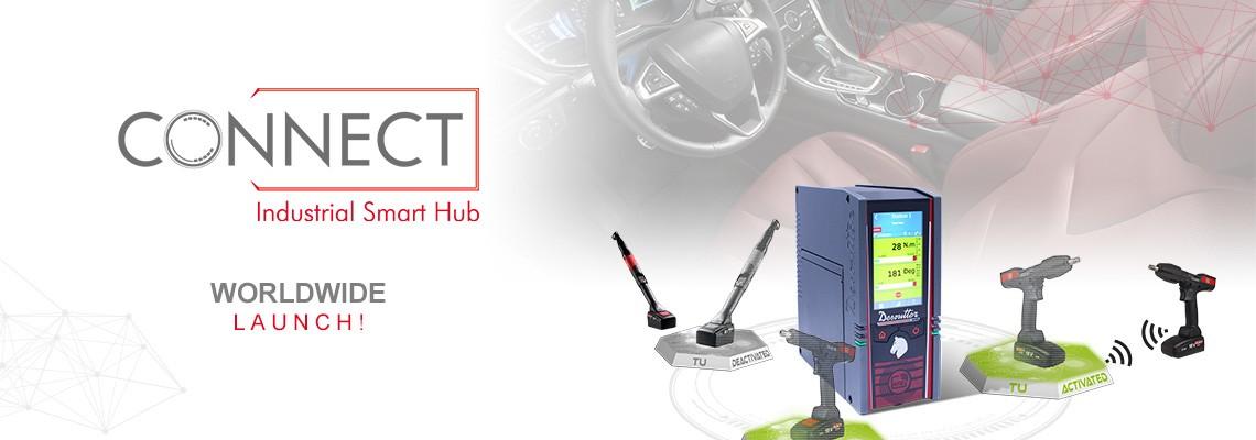 Z dumą przedstawiamy nasz nowy inteligentny koncentrator przemysłowy CONNECT – jest to rozwiązanie  Desoutter 4.0!
