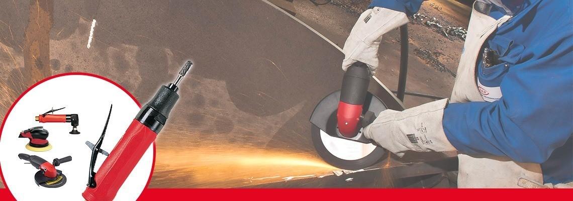 Poznaj szlifierki z tuleją pierścieniową firmy Desoutter Narzędzia Przemysłowe. Kompletny asortyment szlifierek pneumatycznych zwiększających produktywność. Zamów ofertę!