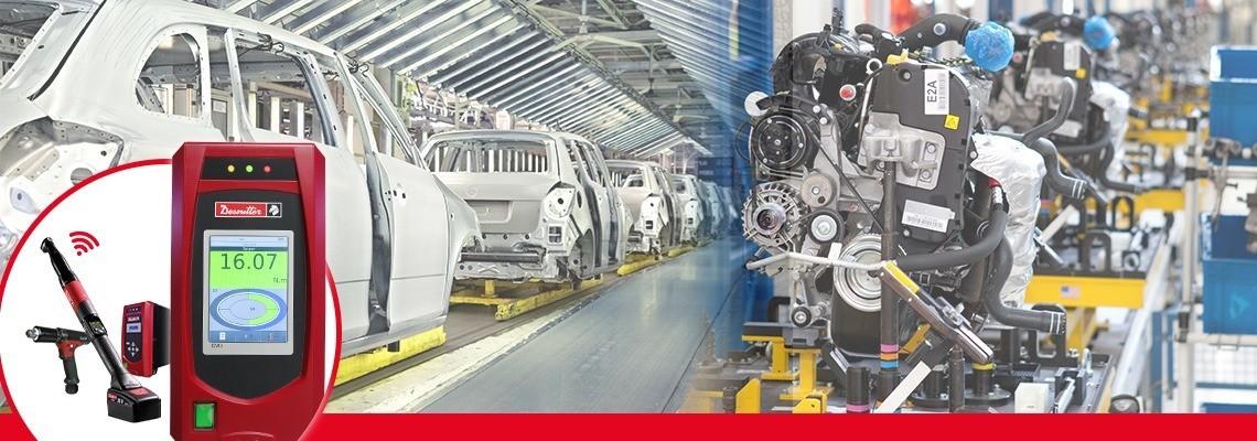 Linia CVI3 firmy Desoutter Narzędzia Przemysłowe obejmuje najmocniejsze i najelastyczniejsze narzędzia ręczne z przetwornikiem do efektywnego dociskania.