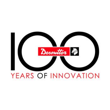 Logo obchodów 100 lecia firmy Desoutter